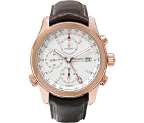 + Bremont Alt1-wt/wh World Timer Rose Gold And Leather Automatic Chronograph Watch