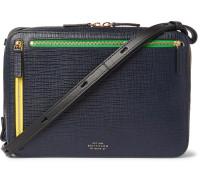 Cross-Grain Leather Messenger Bag