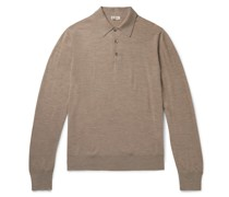 Mélange Merino Wool Polo Shirt