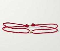 14-Karat Gold and Cord Bracelet