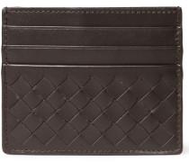 Intrecciato Woven Leather Cardholder