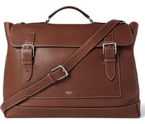 Grained-leather Messenger Bag