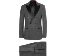 Grey Slim-fit Double-breasted Wool, Silk And Cashmere-blend Tuxedo