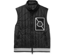 Alasia Slim-fit Appliquéd Quilted Shell Down Gilet