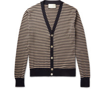 Striped Cotton And Cashmere-blend Cardigan