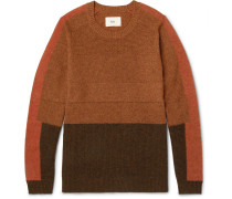 Panelled Wool And Cotton-blend Sweater