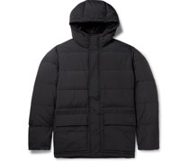 Willum Quilted Nylon Hooded Down Coat