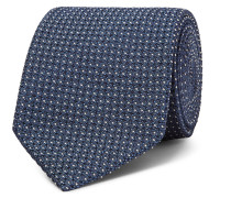 8cm Pin-dot Silk-blend Jacquard Tie
