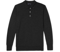 Slim-fit Merino Wool Polo Shirt
