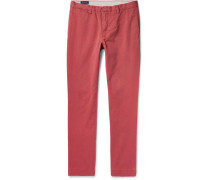 Slim-fit Brushed-cotton Twill Chinos