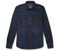 Garth Stretch-denim Shirt