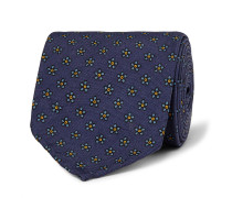 8cm Floral-print Silk Tie