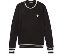 Slim-fit Stripe-trimmed Virgin Wool Sweater