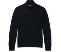 Cable-knit Cashmere Rollneck Sweater