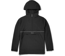 Slim-fit Shell Half-zip Hooded Jacket