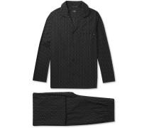 Embroidered Cotton Pyjama Set