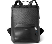 Greenwich Leather-trimmed Coated-cotton Backpack