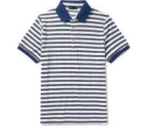 Slim-fit Striped Cotton-blend Terry Polo Shirt