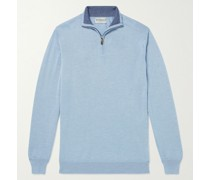 Cashmere and Silk-Blend Half-Zip Sweater