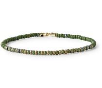 14-Karat Gold Beaded Bracelet