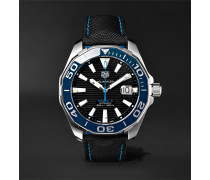 Aquaracer Automatic 43mm Steel And Nylon Watch