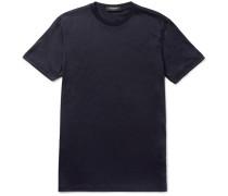 Slim-fit Slub Wool T-shirt