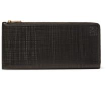 Embossed Cross-grain Leather Wallet
