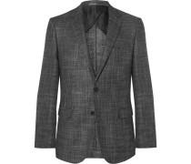 Grey Slim-fit Virgin Wool-blend Blazer