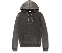 Distressed Printed Cotton-jersey Hoodie