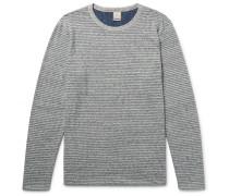 Reversible Mélange Cotton-blend Jersey T-shirt