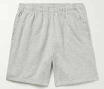 Mélange Fleece-Back Cotton-Jersey Shorts