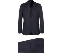 Navy A Suit To Travel In Soho Slim-fit Wool Suit