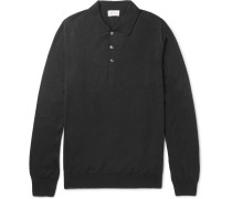 Wool, Silk And Cashmere-blend Polo Shirt