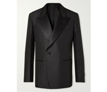 Unstructured Virgin Wool and Mulberry Silk-Blend Tuxedo Jacket