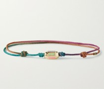 14-Karat Gold, Cord and Enamel Bracelet