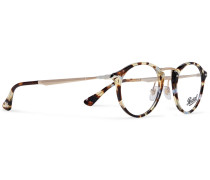 Round-frame Tortoiseshell Acetate And Gold-tone Optical Glasses
