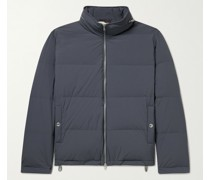 Oversized Quilted Shell Hooded Down Jacket