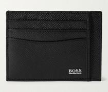 Cross-Grain Leather Cardholder