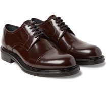 Polished-leather Cap-toe Derby Shoes