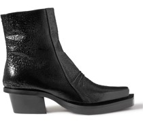 Textured-Leather Boots