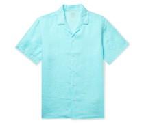 Baker Camp-Collar Linen Shirt