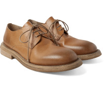 Washed-leather Derby Shoes