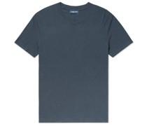 Slim-Fit Cotton and Linen-Blend Jersey T-Shirt