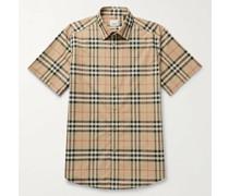Checked Cotton-Poplin Shirt