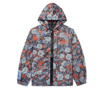 Albion Appliquéd Printed Shell Hooded Jacket