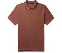 Contrast-Tipped Mélange Pima Cotton-Blend Piqué Polo Shirt