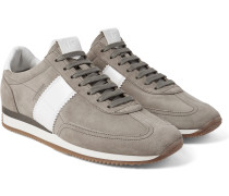 Orford Leather-panelled Suede Sneakers