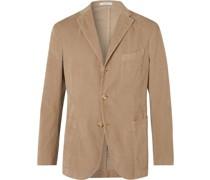 Kei Slim-Fit Unstructured Cotton-Corduroy Blazer