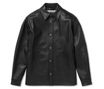 Lark Leather Overshirt