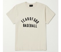 Flocked Cotton-Jersey T-Shirt